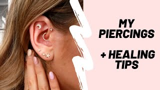 MY PIERCING COLLECTION + HEALING TIPS