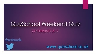 The Weekend Quiz #3 Trivia Quiz