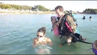 Soldier Shocks Family With Early Homecoming Scuba Surprise