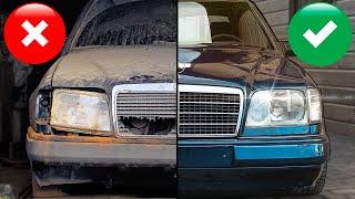Нашли и отмыли грязнейший Мерседес W124 - продаем за рубль! Дешёвки или Тачка невозврата?