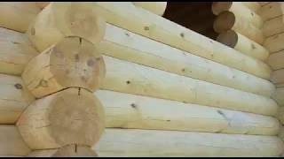 Видео-обзор дома из оцилиндрованного бревна построенного компанией Арт Строй Дизайн