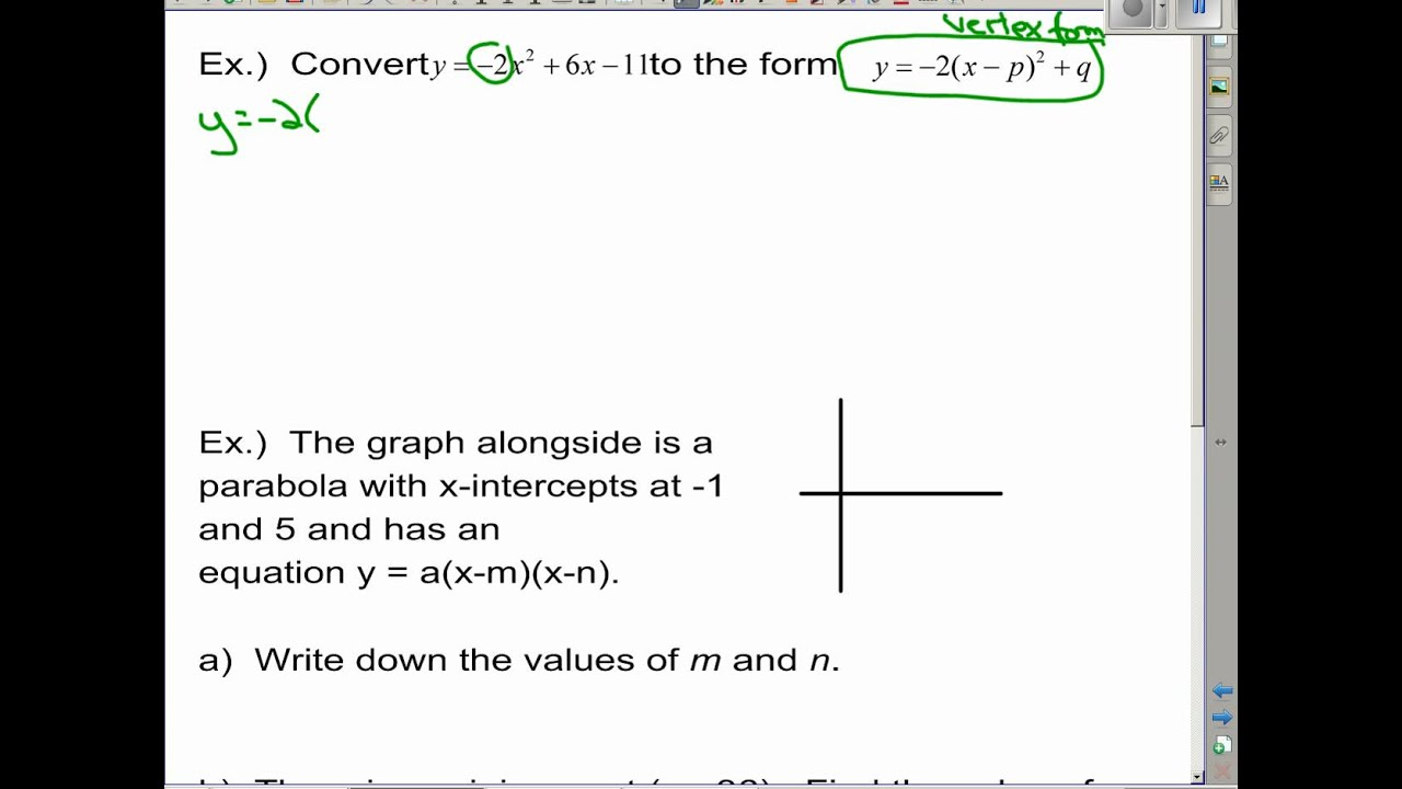 IB Math SL Functions Review - Topic 2
