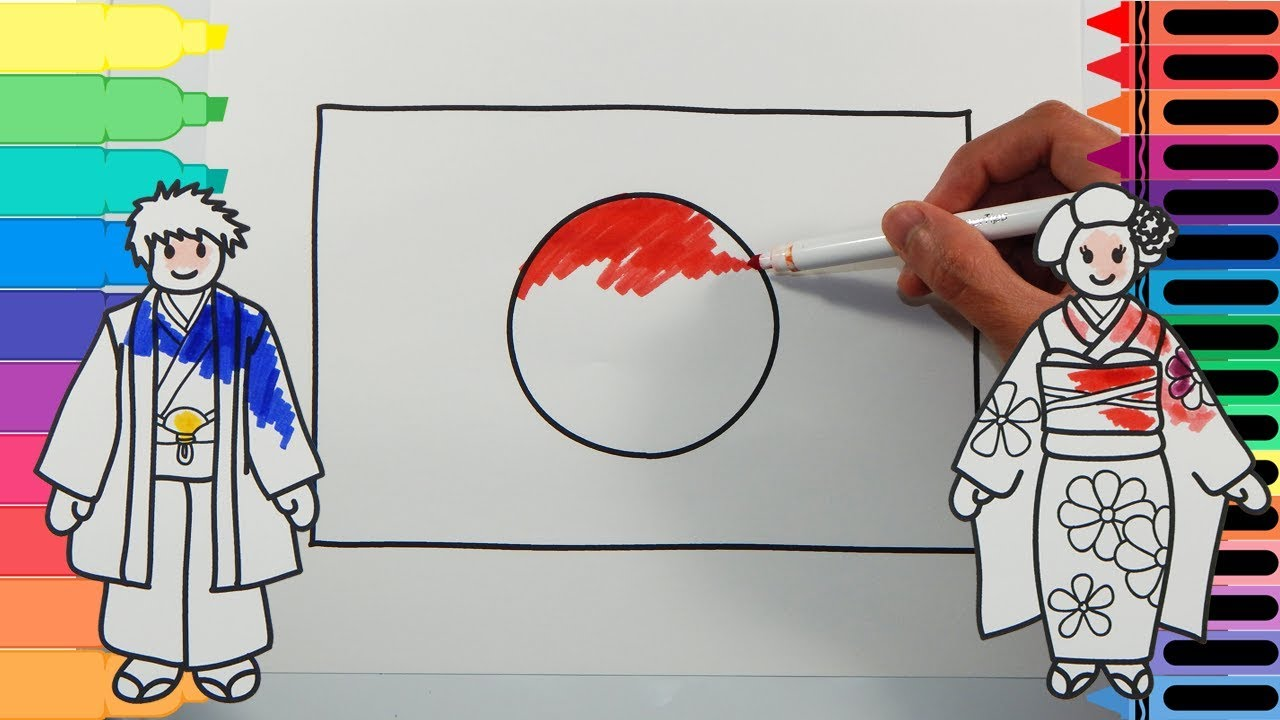 how to draw japan flag drawing the japanese flag art colors