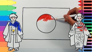 How to Draw Japan Flag - Drawing the Japanese Flag - Art Colors for Kids | Tanimated Toys