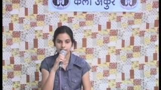 Aao Huzoor Tumko - Cover By Anshita Sharma - Kala Ankur Academy Ajmer.