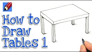 How to draw a table Real Easy - Step by Step #1