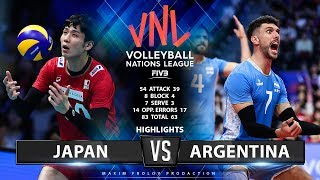 Japan vs Argentina | Highlights Men's VNL 2019