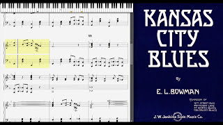 Kansas City Blues by Euday Bowman (1915, Blues piano)