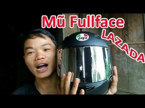 Mở Hộp Mũ Fullface AGU Mua Trên Lazada Và Cái Kết | Cuộc Sống Miền Núi Vlogs
