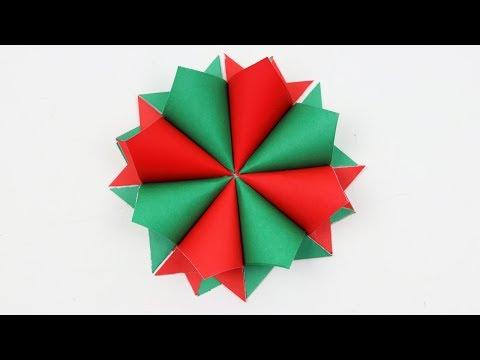 How to Make Easy Christmas Paper Wreath for Room Decoration - DIY Home Decor Xmas Holiday Crafts