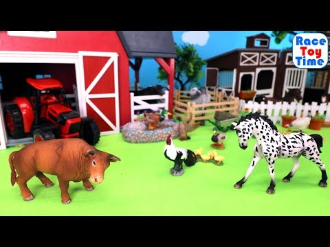 Fun Farm Animals and Horse Toys For Kids - Learn Animal Names