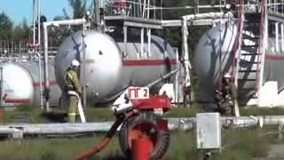 Пожарные учения на газонаполнительной станции