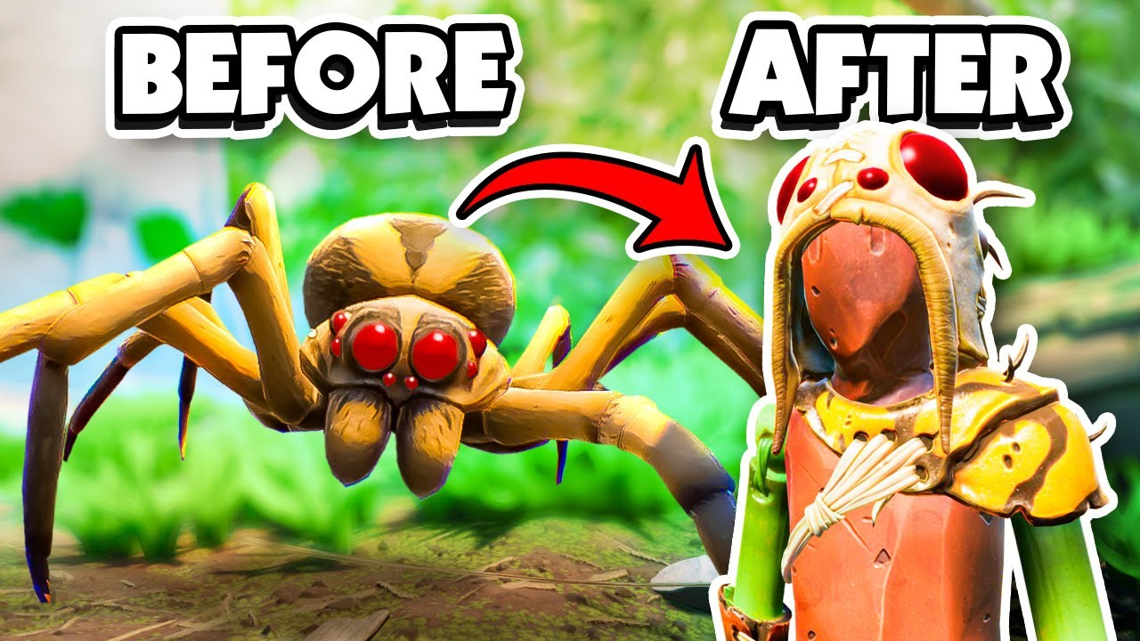 Crafting SPIDER ARMOR from WOLF SPIDERS! - Grounded