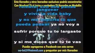 Si tu no estás - Karaoke Nicky Jam Dj Manfred