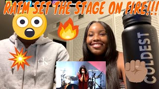 GIRLFRIEND REACTS TO RATM | Rage Against The Machine -Testify Live At Finsbury Park | REACTION