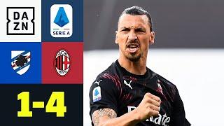 Milans Traumduo schlägt wieder zu: Sampdoria - AC Mailand 1:4 | Serie A | DAZN Highlights
