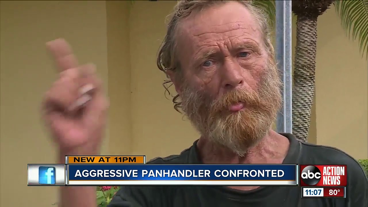 Bradenton man fed up with aggressive panhandlers, takes to streets to warn drivers, community