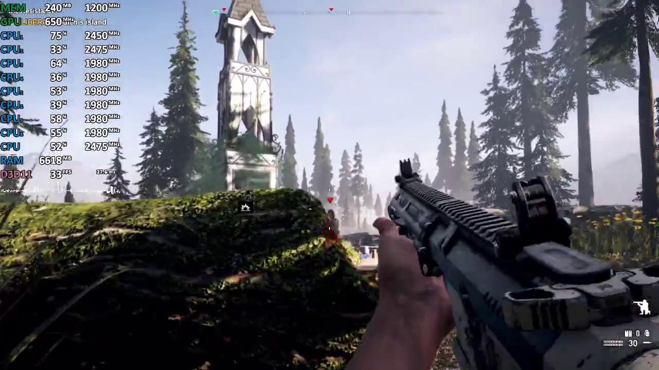 AMD Ryzen 7 2700U Vega 10 Review - Far Cry 5 - Gameplay Benchmark Test