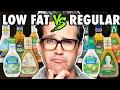 Low Fat vs. Regular Salad Dressing Taste Test