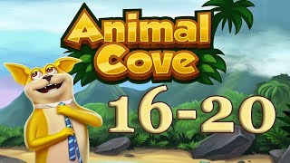 Animal Cove level 16 - 20 Solve Puzzles & Customize your Island
