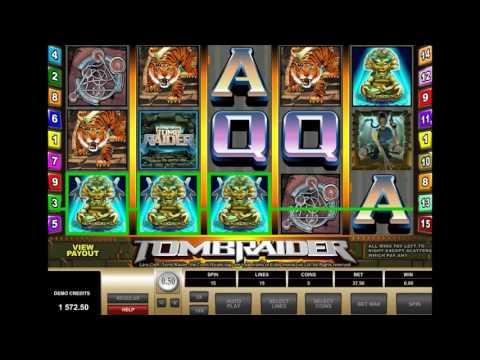 Игровой автомат Tomb Raider - обзор аппарата Расхитительница Гробниц от производителя Microgaming