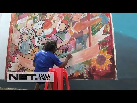 perindah-kampung,-ratusan-seniman-beradu-kreasi-seni-mural---net-jateng