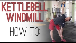 KETTLEBELL WINDMILL tutorial: demonstration video on the one arm KB Windmill exercise