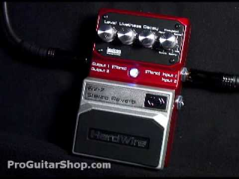 Hardwire RV-7 Stereo Reverb Pedal