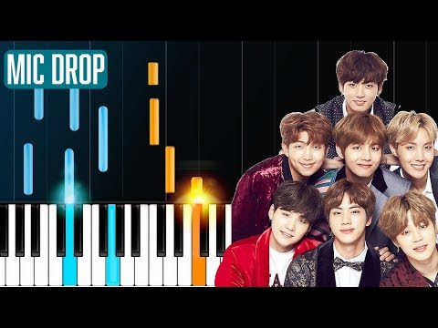 BTS - Mic Drop Steve Aoki Remix Pandapiano  Piano Tutorial - Chords - How To Play - Cover