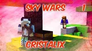 Minecraft Sky Wars #1|ОГНЕННАЯ ДОРОЖКА!(Cristalix)