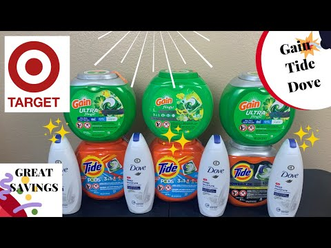 Target Couponing Deals | Gain & Tide Laundry Detergent | Cheap Dove | Save Money