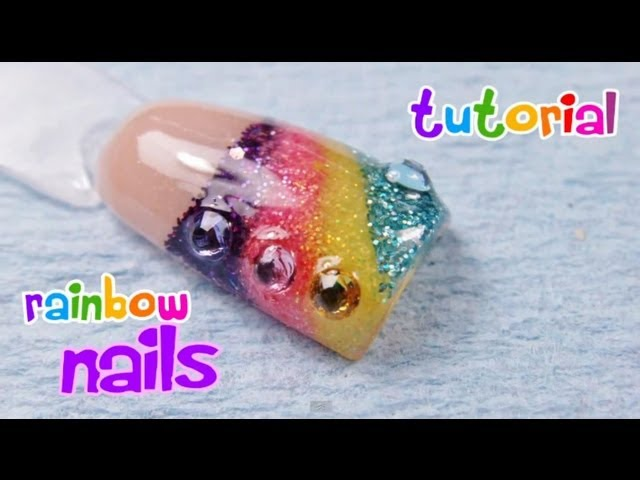 Rainbow Nails Tutorial / Uñas de arcoiris