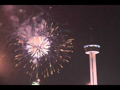 happy new year 2012 san antonio tx usa long version with popsfireworks