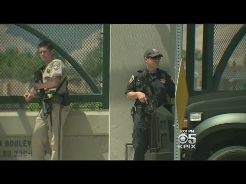 Police Swarm Fremont In Manhunt For Suspects Who Shot Two Officers