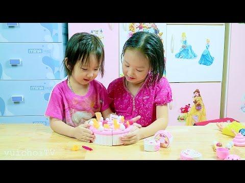 Đồ chơi làm bánh sinh nhật - bánh Gato cho bé