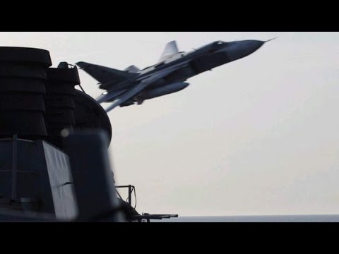 Russian Fly-By: Su-24 jets buzz US Navy ship in Baltic sea