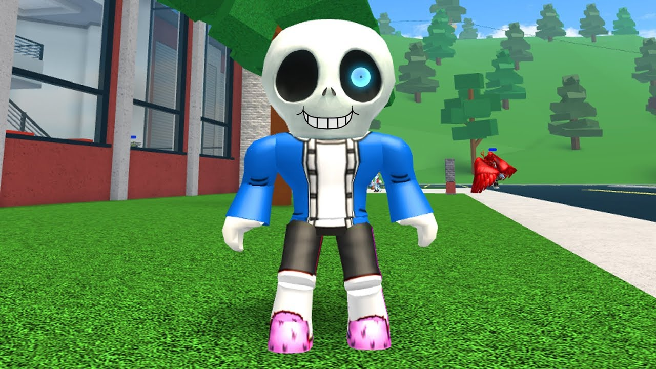 HOW TO BE SANS IN ROBLOXIAN HIGHSCHOOL!!