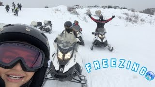 A WEEKEND GETAWAY| Snowmobiling ❄️