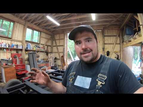 Wooden Utility Trailer Frame
