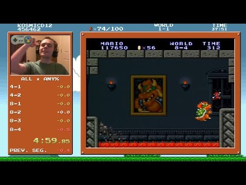 [WR] SMB1 All Stars Any% Speedrun in 4:59.873