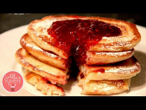 How To Make Buttermilk Pancakes - Pancake Recipes - Оладьи на кефире пышные
