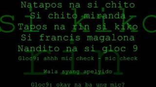 Repeat youtube video Bagsakan - Parokya ni Edgar, Francis M. & Gloc9 lyrics