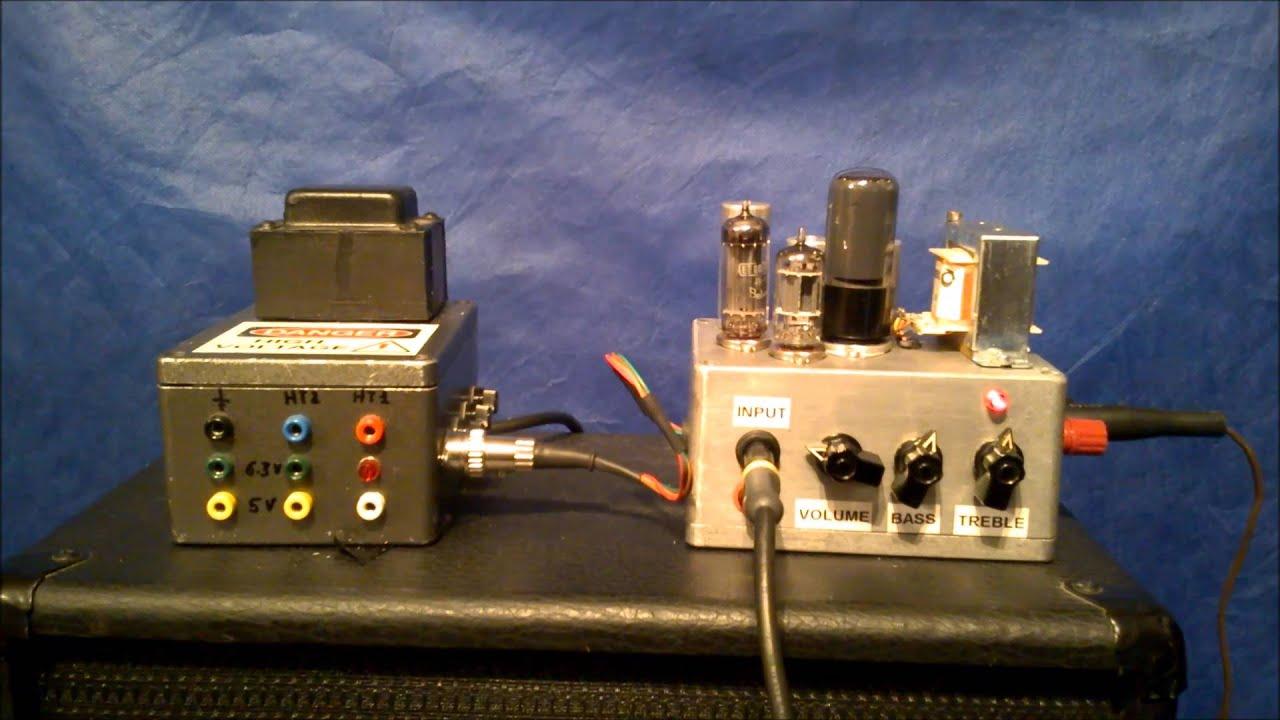 fabrication d 39 un mini ampli tubes pour guitare youtube. Black Bedroom Furniture Sets. Home Design Ideas