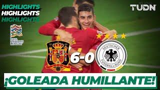 Highlights | España 6-0 Alemania | UEFA Nations League - J6 | TUDN
