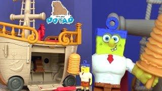 Губка Боб Квадратные Штаны Мультик – ГУБКА СТАЛ СИЛАЧОМ! Krabby Patty Food Truck Видео для Детей!