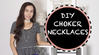 DIY CHOKER NECKLACES