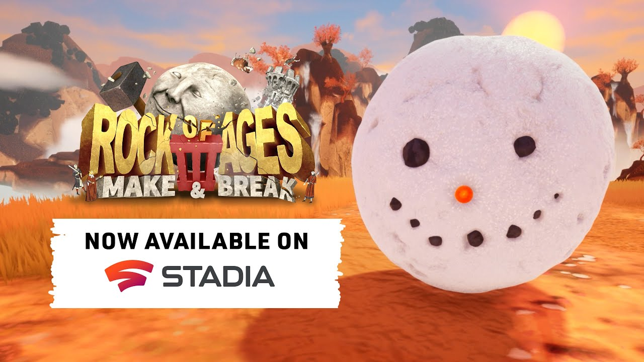 Rock of Ages III: Make & Break - Stadia Launch Trailer - Gematsu