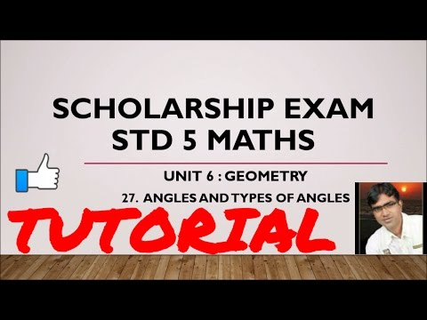 HOW TO LEARN MATHS, SCHOLARSHIP EXAM PREPARATION FOR GRADE 5 (STANDARD 5)  GEOMETRY TUTORIAL