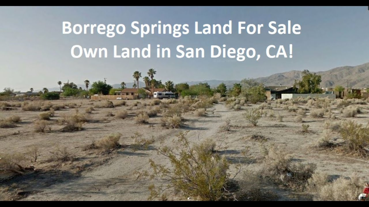 Borrego Springs Land For Sale in San Diego county