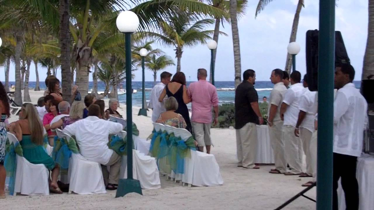 Wedding On The Beach At Barcelo Maya Colonial Pt 1